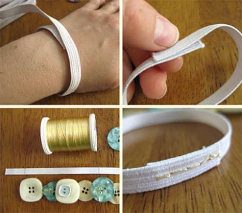 Как сделать из резинки браслет на руку