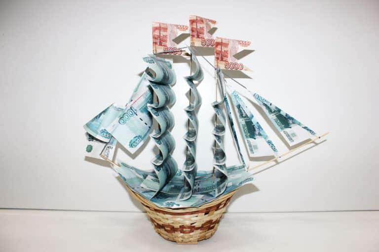 Денежные кораблики своими руками 821