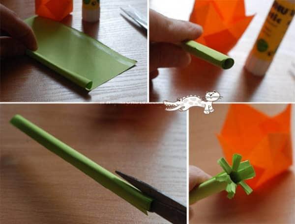 Третий этап создания букета для мамы своими руками