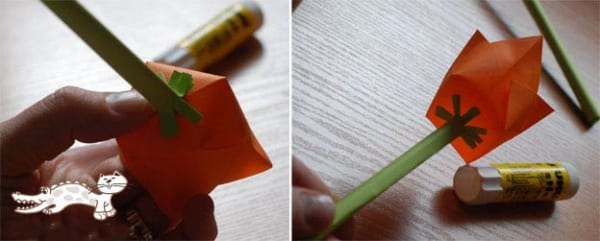 Окончательный шаг по созданию тюльпана