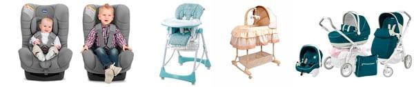 Автомобильные кресла, столики для кормления, коляски]