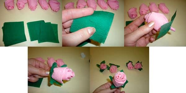 Шаг 6 - Розочки для букета из бумаги