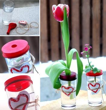 Декоративная ваза из стакана