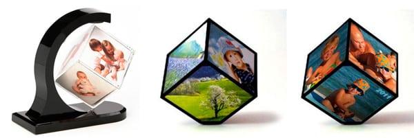 Вращающийся кубик с фото
