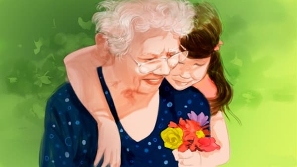 Цветы обязательны при поздравлении женщины любого возраста