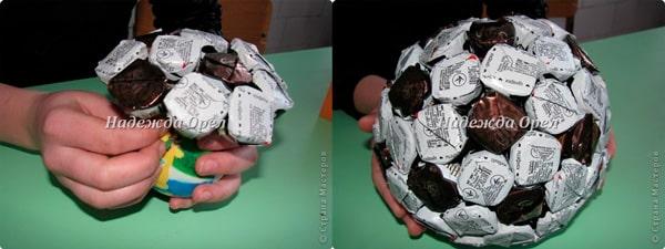 Изготовление футбольного мяча своими руками