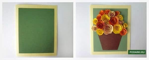Этап 4 - создание открытки для бабули