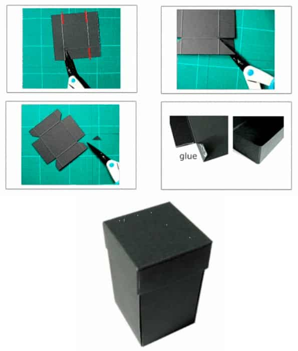 Этап 2 - коробочка с бабочками