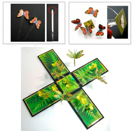 Этап 3 - коробочка с бабочками