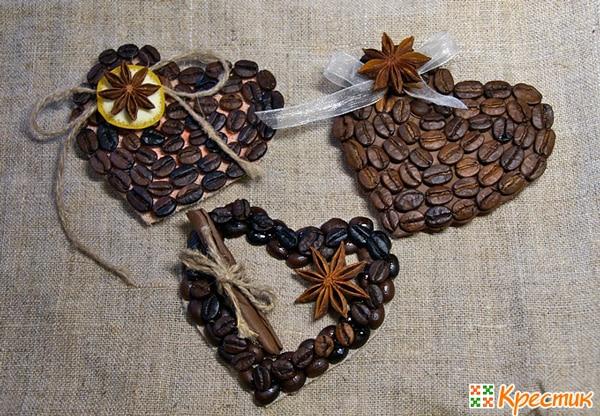 Оригинальные магнитики из кофейных зерен