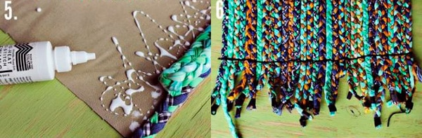 Процесс создания плетеного коврика - 2