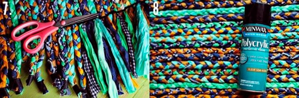 Процесс создания плетеного коврика - 3