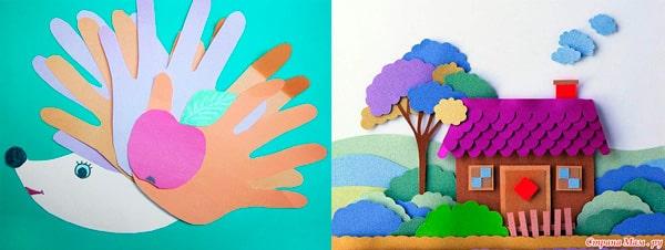 Подарок из цветной бумаги