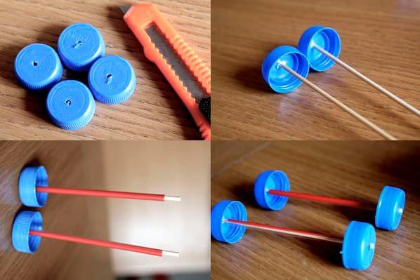 Процесс изготовления игрушечного поезда