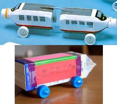 Поезд из подручных материалов