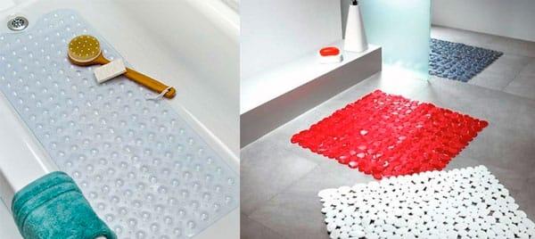 Противоскользящие коврики для ванной комнаты