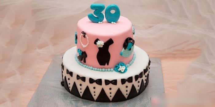 Праздничный торт на 30 лет