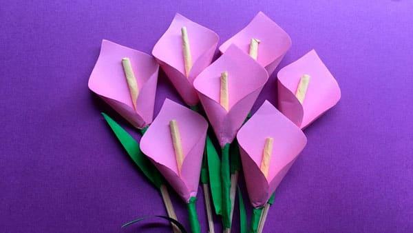 Тюльпаны из бумаги для бабушки от любимых внуков