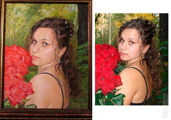 Портрет, выполненный по фотографии
