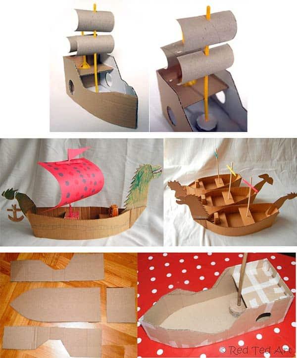 Корабль из картона