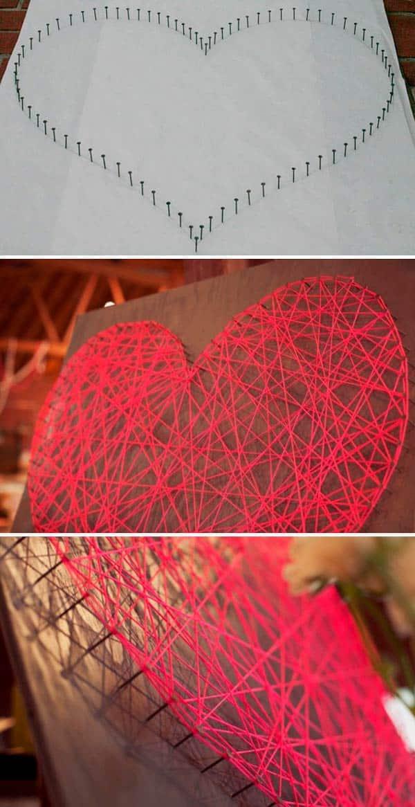 Панно в форме сердца - инструкция