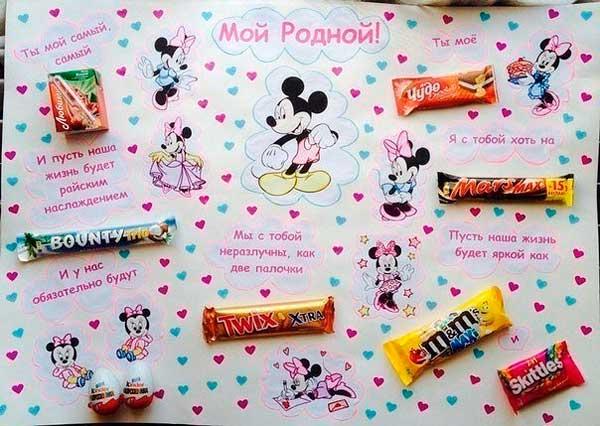 Сладкий плакат или лечебные конфеты