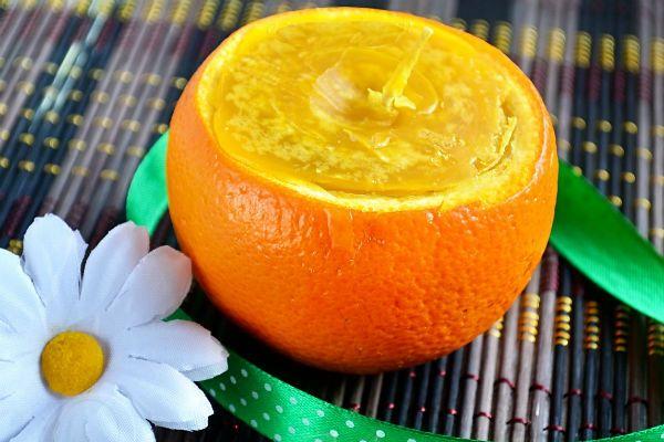 Свеча-апельсин