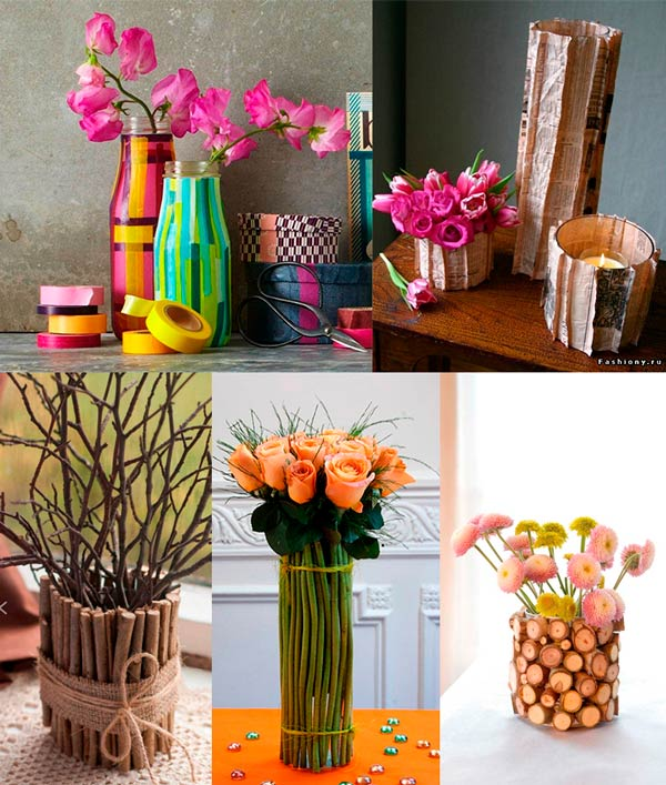 Красивая ваза своими руками