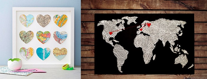 Карта с сердечками