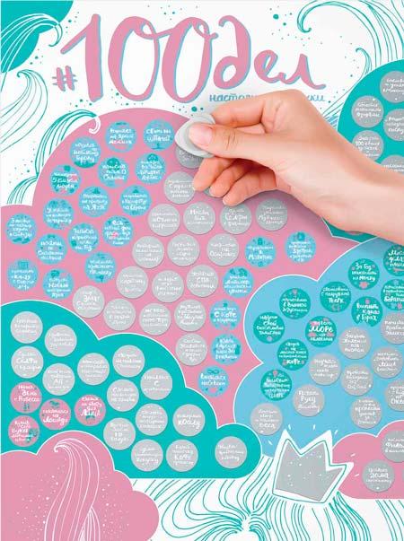 """Скретч плакат """"100 дел для девушки"""""""
