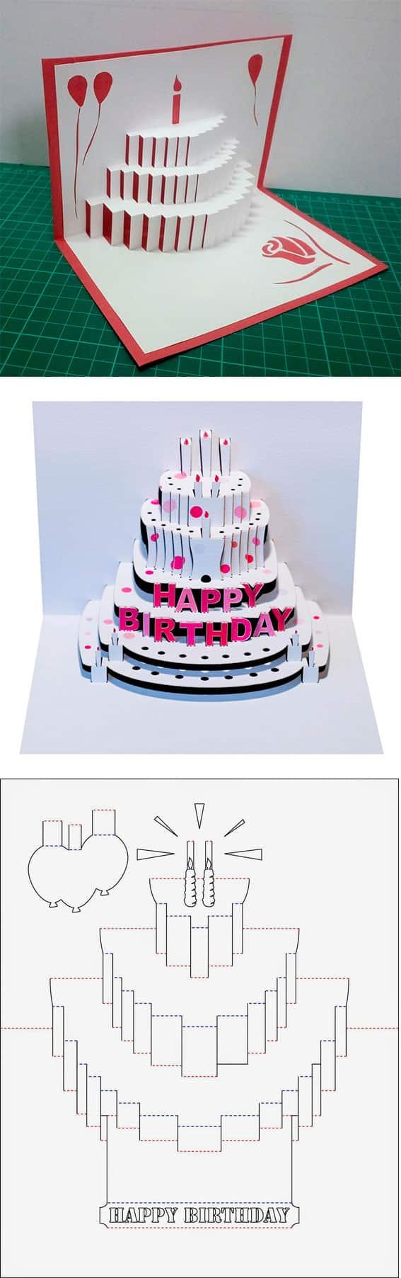 3d открытка - торт