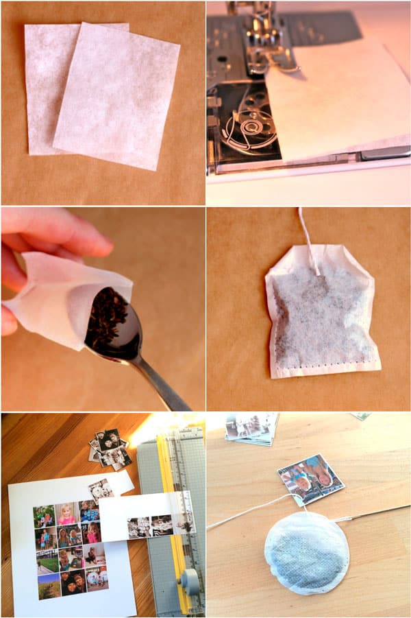 Оригинальные чайные фото-пакетики своими руками