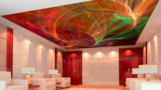 Цветной потолк