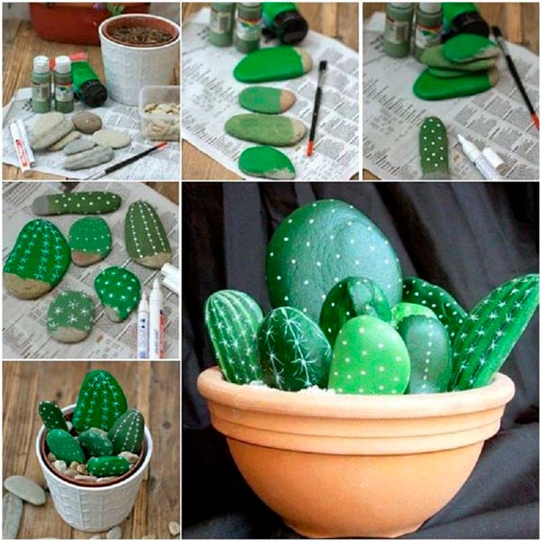 Декоративные кактусы своими руками
