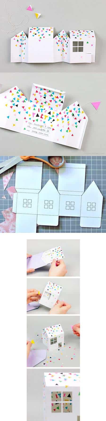 Оригинальный бумажный домик