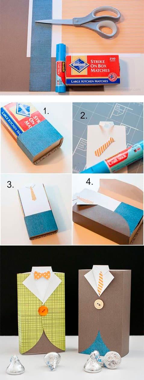 Коробка конфет в виде пиджака - инструкция