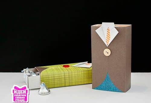 Коробка конфет в виде пиджака