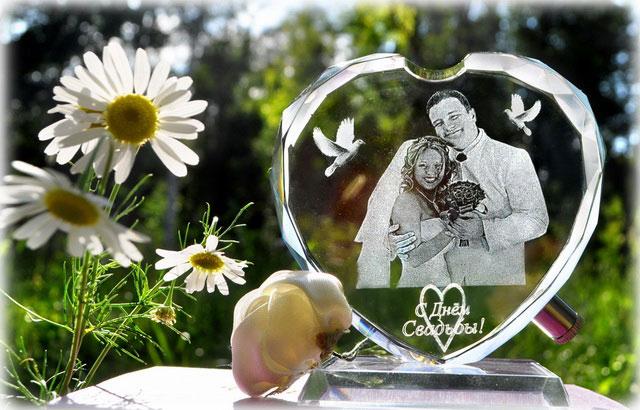 Свадебный фотокристалл