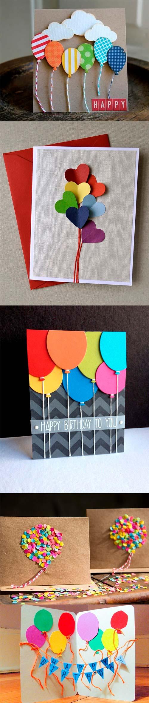 Примеры открыток воздушных шариков