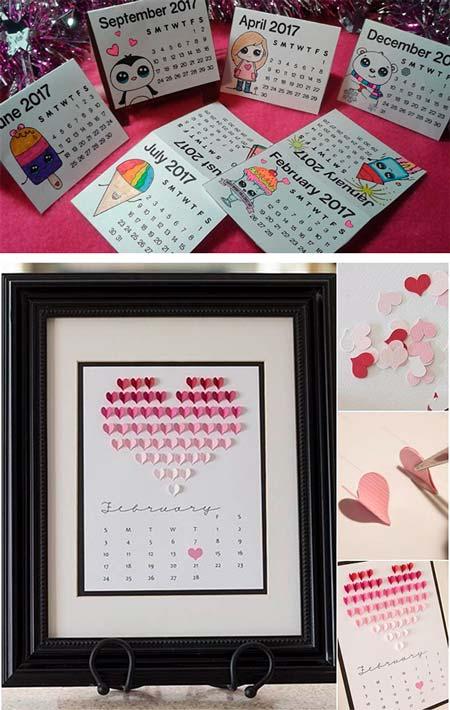 Романтичный календарь для любимой