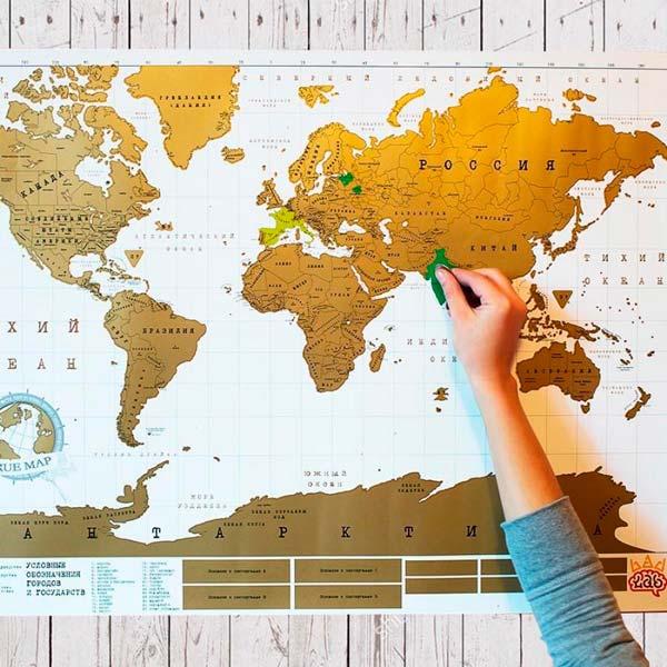 Настенная карта со стирающимся верхним слоем