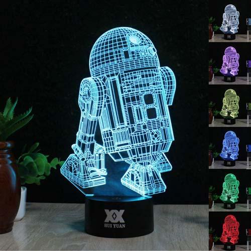 3D-светильник Star Wars R2D2