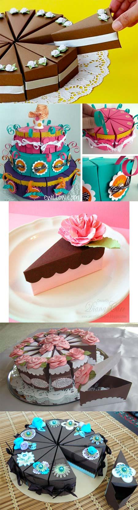 Бумажный торт - коллаж
