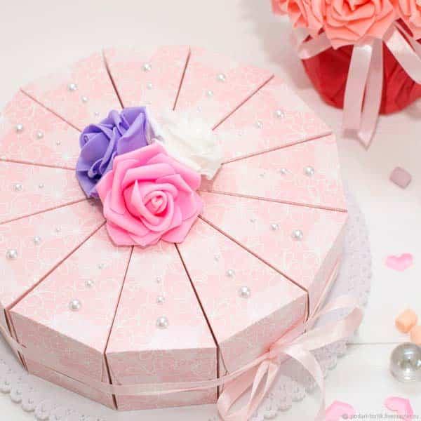 Бумажный торт с сюрпризом