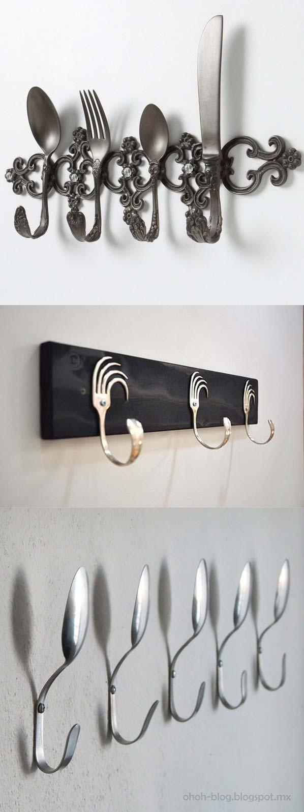 Оригинальные крючки для полотенец из вилок