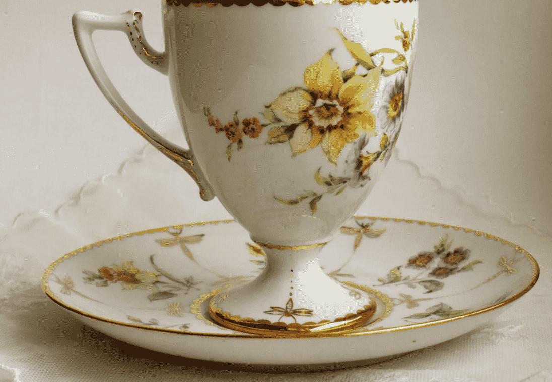 Расписная чайная пара